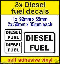 3x Diesel Fuel Warning reminder Signs self adhesive viny Stickers car taxi cab