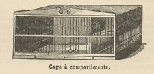 C8386 Cage à compartiments - Stampa antica - 1892 Engraving