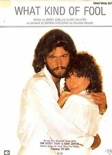 Barbra Streisand w/Barry Gibb (BeeGees) What Kind Of Fool US Sheet Music