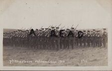 Soldier Grupo 7th Batallón Middlesex Regimiento Patcham Campamento Sussex 1910