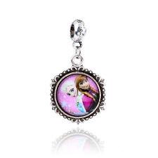 Retro Silver queen princess Cabochon Glass Dangle Charm Bead suit Bracelet D184