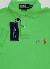 NEW POLO RALPH LAUREN CUSTOM FIT GREEN MESH POLO SHIRT size SMALL msrp $89.50