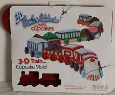Create Celebrate 3D Train Cupcake Mold Silicone Cake Pan