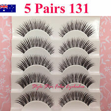 5 Pairs Natural Long Thick Soft Fake False Eyelashes Handmade Extensions Makeup