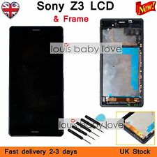 FOR Sony Xperia Z3 D6603 Black LCD Display+Touch Screen Digitizer Frame Black