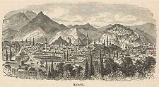 C8271 Turkey - Kütahya - General view - Stampa antica - 1892 Engraving