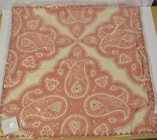 """POTTERY BARN SCARLETT EMBROIDERED RED PILLOW COVER 26"""" #77"""