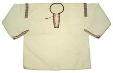 ANTIQUE embroidered Ukrainian peasant shirt linen folk costume ethnic blouse top