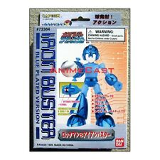 ROCKMAN Megaman Iron Buster Blue Plated Version BanDai Toy Action Figure RARE!!!