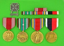 Army WWII European Theater Occupation Medals, Ribbons, Badge,  Campaign Star WW2