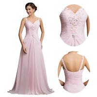 New Ladies Long Dress Chiffon Formal Prom Party Ball Bridesmaid Evening Gown