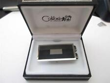 Colibri High Polished Silver and Grey Lines Money Clip Engravable