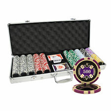 500 14G ACE CASINO TABLE CLAY POKER CHIPS SET NEW