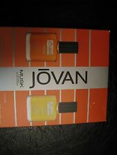 JOVAN MUSK FOR MEN SET OF 2 ,AFTER SHAVE AND WHITE MUSK COLOGNE ,0.5 OZ.EACH