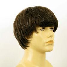 Perruque homme 100% cheveux naturel châtain ref EMILE 6spw