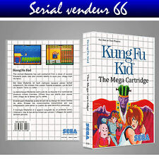 MASTER SYSTEM : KUNG FU KID. COVER PRINTED + CASE / BOX. NO GAME. MULTILINGUAL.