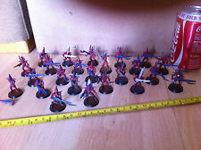 Warhammer 40k Dark Eldar Kabalite Warriors Bundle Oop Plastic x 24 red