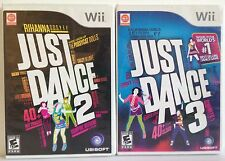 Just Dance 2 & 3 Nintendo Wii Exercise 2 Games lot