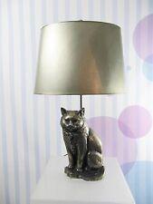 seltene TISCHLAMPE BRONZE KATZE Tischleuchte Katzenlampe  /1