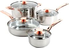 Stainless Steel 8 Piece Cookware Set Non Stick Cooking Pots and Pans Kitchen S