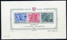 POLAND 1948 Presidents block MNH