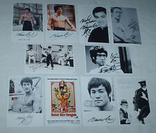 BRUCE LEE JOB LOT SET OF 10 SIGNED AUTOGRAPH REPRINT 6 X 4 PHOTOS
