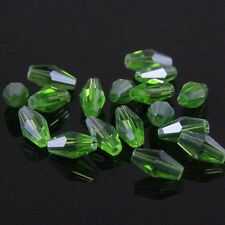 40pcs Swarovski  4x8mm Long Bicone Crystal beads A  Applegreen
