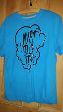 MENS TEENAGER BOYS NIKE JUST DO IT BLUE  T SHIRT  SIZE XTRA LARGE XL