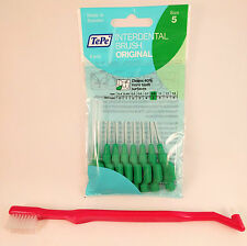 Orthodontic Toothbrush and TePe Interdental Brushes 0.8mm Green - 1 Packets of 8