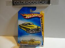 2009 Hot Wheels #15 Gold Custom '53 Cadillac w/Lace Wheels