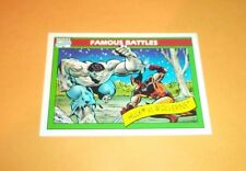 The Hulk vs Wolverine # 113 1990 Marvel Universe Series 1 Trading Card
