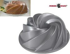 "Nordicware 10"" HERITAGE BUNDT Cake Bake PAN 10 Cup HEAVY Cast *SWIRLED PLEATS"