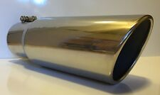 """CHEVY DURAMAX 4"""" INLET 6"""" OUTLET 15"""" L POLISHED STAINLESS DIESEL EXHAUST TIP"""