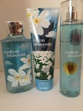BATH AND BODY Works Cotton Blossom Body Cream, Shower Gel And Frag Mist