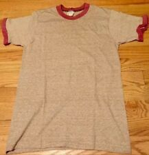 Vintage MW TOWN CRAFT Ringer 50/50% Soft T-Shirt. Size S (34-36) Made In USA.