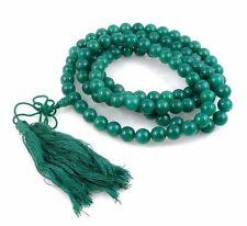 Buddhism 22 Inches 108 Jade Beads Hand Crafted Long Prayer Necklace