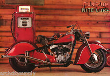 POSTER: MOTORCYCLES: TUNE UP - NIGHT LUBE - OLD HARLEY - FREE SHIP #3074 LP50 N