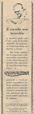 W2243 OVOMALTINA - Il cervello non invecchia... - Pubblicità del 1930 - Old ad