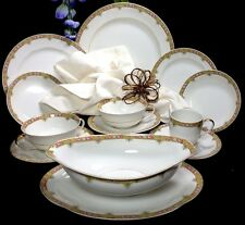 Vintage Limoges A. Lanternier China Set Service for 8 Eight