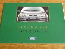 Ford Sierra Cosworth 4 X 4 COCHE FOLLETO de ventas 1990 lengua italiana