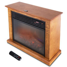 1500W Large Infrared Quartz Electric Fireplace Heater Realistic Flame w/ Remote