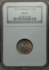 Germany 1913F 1/2 Mark NGC MS65 high grade