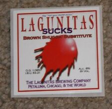 LAGUNITAS BREWING SUCKS splat STICKER label decal craft beer brewery