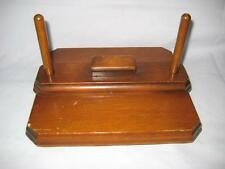 "Rare Antique / Vintage Handmade Wood Footed Napkin Press / Holder ~ 9"" X 8"" X 5"""