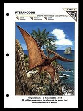 """PTERANODON"" PREHISTORIC ANIMAL/WILD LIFE FACT FILE FLYING REPTILE INFO-CARD"