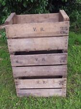 6 X VINTAGE FRENCH VR WOODEN FARM APPLE CRATES BUSHEL BOX BOOK SHELF DISPLAY