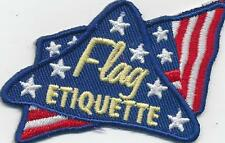 Girl Boy Cub FLAG ETIQUETTE handling Patches Crests Badges SCOUTS GUIDE ceremony