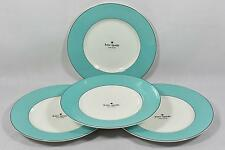 Kate Spade Lenox Rutherford Circle Turquoise Dinner Plates Set of 4 New