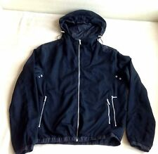 CALVIN KLEIN Mens Black Full Zip Hooded Athletic Jacket with Pockets Size M