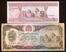 Rare AFGHANISTAN Note Desert Storm US War Army Unc Banknote 2 Pcs Lot Huge SALE